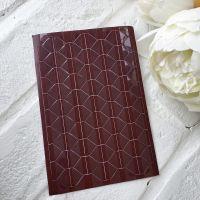 Уголки для фото прозрачные, основа коричневая