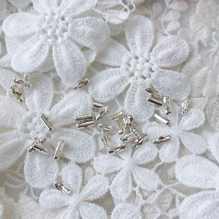 Застежка для цепочки 2.4 мм, цвет серебро