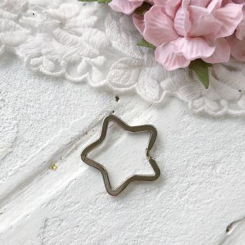 """Кольцо для брелка """"Звезда"""" 32 мм, цвет серебро"""