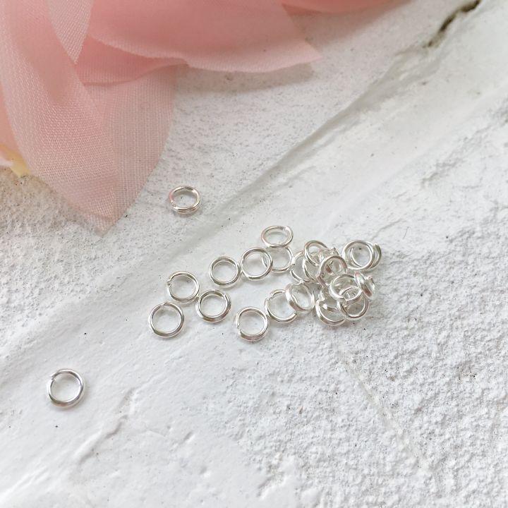 Кольцо разъемное 4 мм, цвет серебро