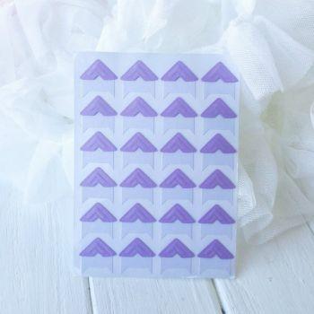 Уголки для фото. Цвет фиолетовый