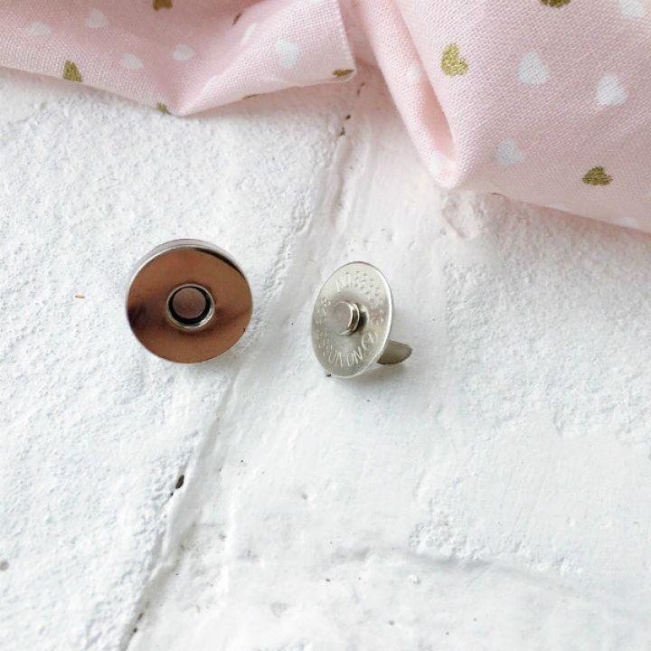 Магнит-кнопка 14 мм, цвет никель