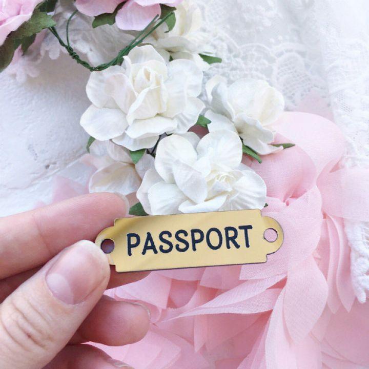 """Табличка """"Passport"""""""