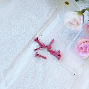 Брадс. Цвет темно-розовый 14*7 мм