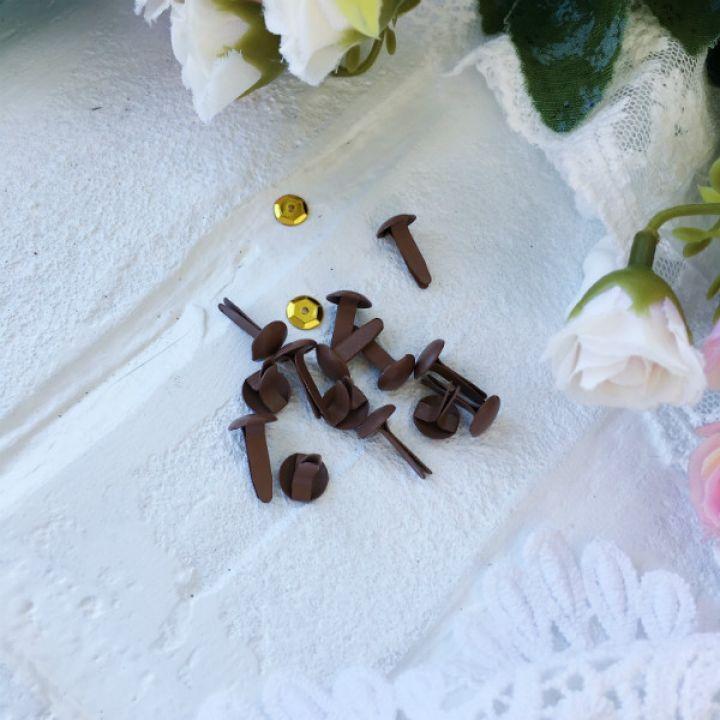 Брадс. Цвет коричневый 8*15 мм