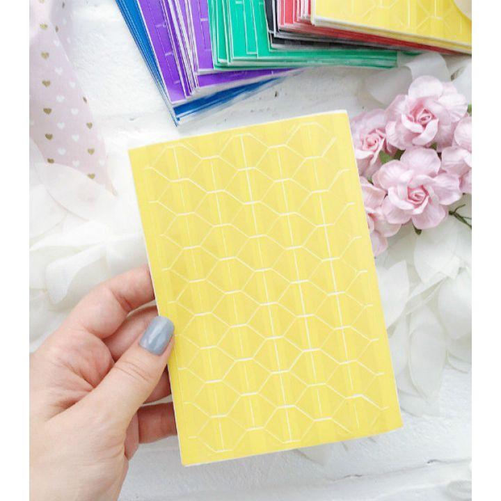 Уголки для фото прозрачные, основа желтая