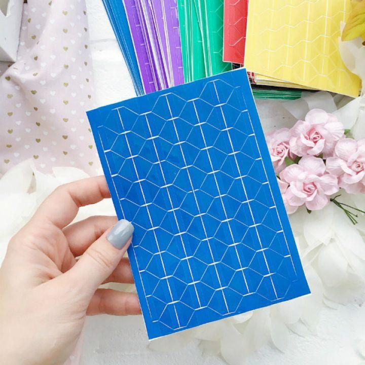 Уголки для фото прозрачные, основа синяя