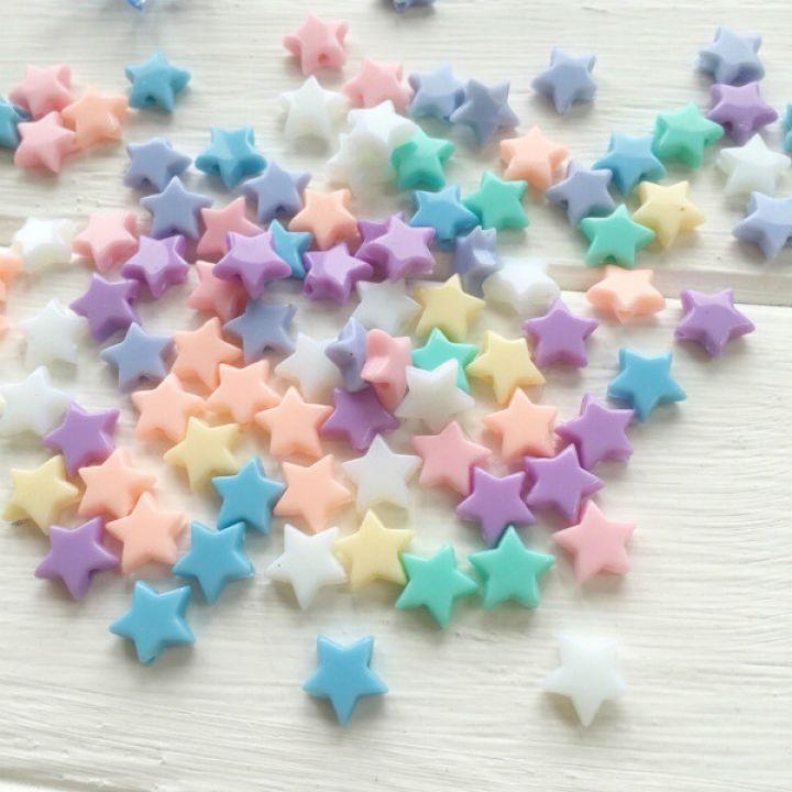 Акриловые бусины в форме звезды 1