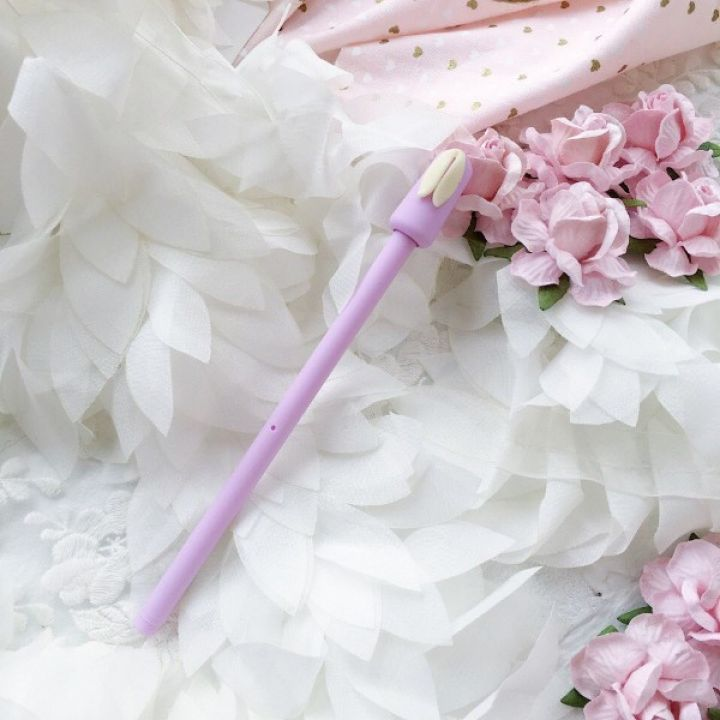 """Ручка гелевая """"Ушки"""", цвет лиловый"""