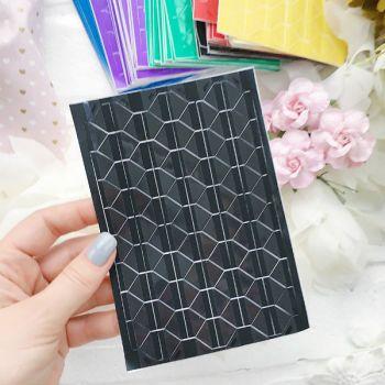 Уголки для фото прозрачные, основа черная
