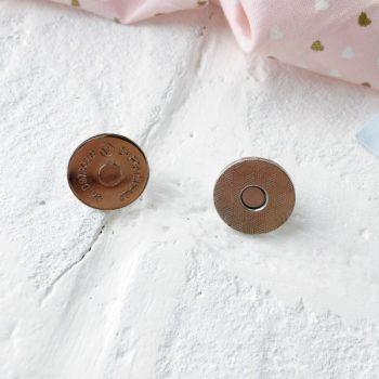 Магнит-кнопка 19 мм, цвет никель