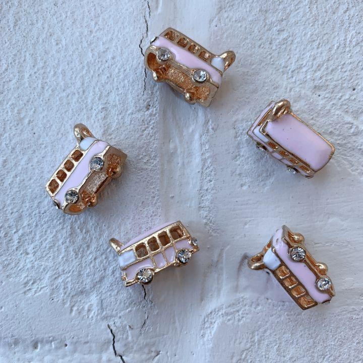 """Подвеска """"Автомобиль"""", цвет розовый"""
