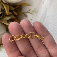 Цепочка с застежкой 4 см, золото