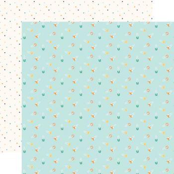 Лист двусторонней бумаги  Echo Park - Hello Baby Boy - Boy Diaper Pins  30*30 см