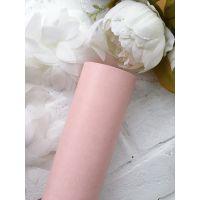 Глянцевый переплетный кожзаменитель, цвет пыльно-розовый 25*70 см