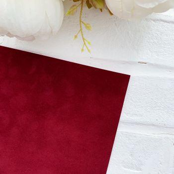 Переплетный флок на бумажной основе 23*25 см, цвет бордовый