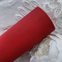 """Матовый переплетный кожзаменитель (фактура """"твил""""), цвет ярко-красный 35*25 см"""