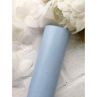 Глянцевый переплетный кожзаменитель, цвет светло-голубой 25*70 см