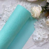 Матовый переплетный кожзаменитель, цвет зеленая мята 35*25 см
