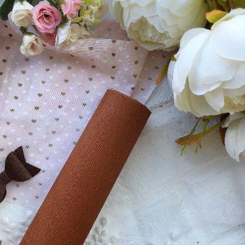 """Матовый переплетный кожзаменитель (фактура """" дерево""""), цвет светло-коричневый 33*35 см"""