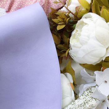 Матовый переплетный кожзаменитель, цвет бледно-сиреневый  35*25 см