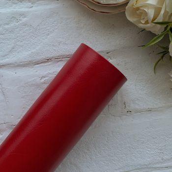 Глянцевый переплетный кожзаменитель, цвет ярко-красный 35*25 см