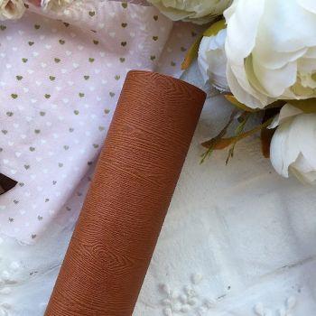 """Матовый переплетный кожзаменитель (фактура """" дерево""""), цвет светло-коричневый 35*25 см"""