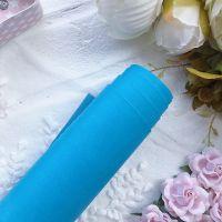 Матовый переплетный кожзаменитель, цвет голубой 25*70 см