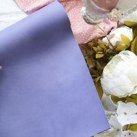 Матовый переплетный кожзаменитель, цвет сиреневый  25*70 см