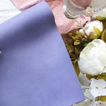 Матовый переплетный кожзаменитель, цвет сиреневый  35*25 см