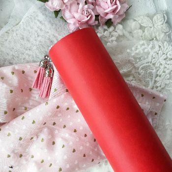 Матовый переплетный кожзаменитель, цвет ярко-красный 35*25 см