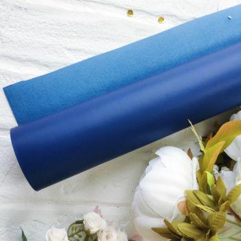 Матовый переплетный кожзаменитель, цвет синий 35*25 см