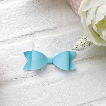 Набор для создания банта из кожзама 9*3 см, цвет небесно-голубой матовый