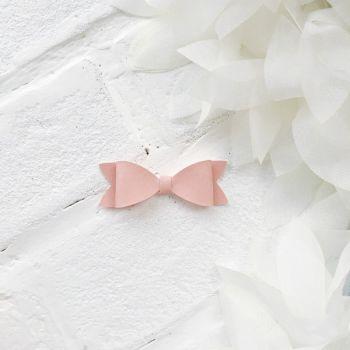Набор для создания банта из кожзама 6*2 см, цвет пыльно-розовый матовый