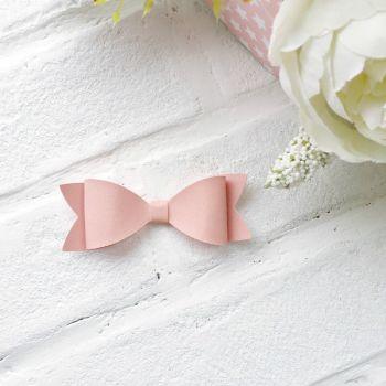 Набор для создания банта из кожзама 9*3 см, цвет пыльно-розовый матовый