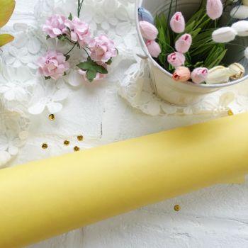Матовый переплетный кожзаменитель, цвет светло-желтый 35*25 см