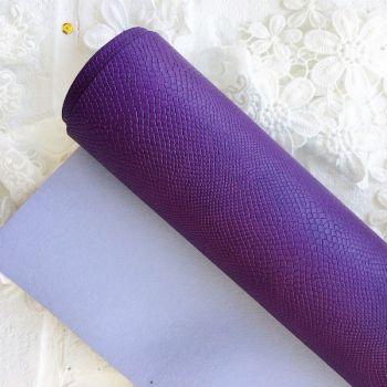 """Матовый переплетный кожзаменитель (фактура """"питон""""), цвет фиолетовый 35*25 см"""