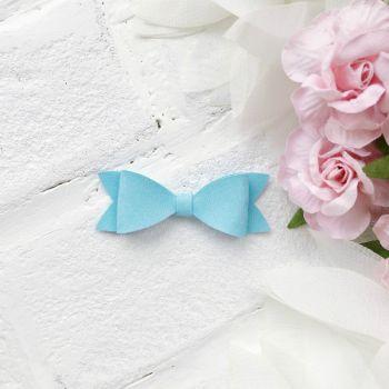 Набор для создания банта из кожзама 6*2 см, цвет небесно-голубой матовый