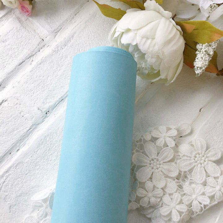 Матовый переплетный кожзаменитель, цвет небесно-голубой 35*25 см