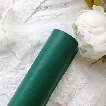 Матовый переплетный кожзаменитель, цвет темно-зеленый 35*25 см