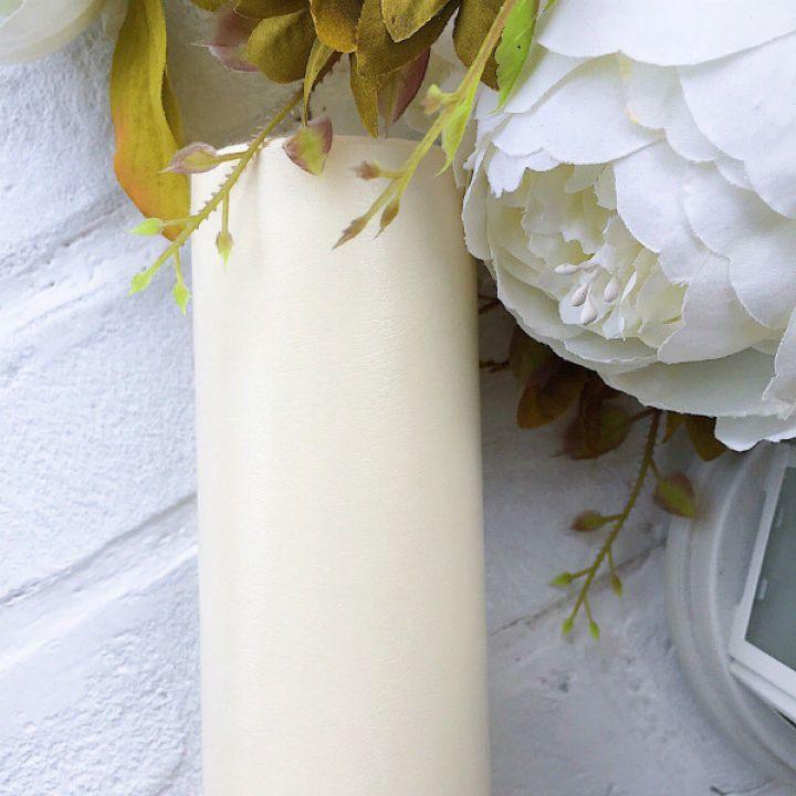Глянцевый переплетный кожзаменитель, цвет кремовый 35*25 см