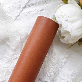 Матовый переплетный кожзаменитель, цвет светло-коричневый 35*25 см