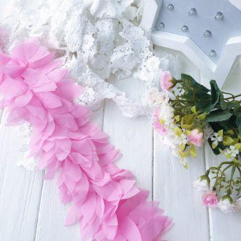 Шифоновые лепестки. Цвет розовый, длина лепестка 6 см