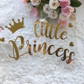 "Надпись ""Little Princess"", цвет Gold metallic"