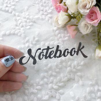 "Надпись ""Notebook"", цвет Black глиттер"