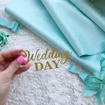 "Надпись ""Wedding day"", цвет Gold metallic"