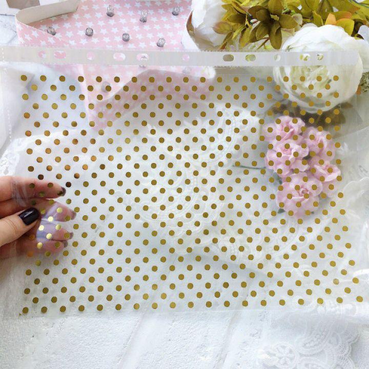 Фон/ горох, термопленка Gold metallic 20*30 см