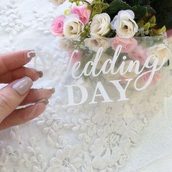 """Надпись """"Wedding day"""", цвет White матовый"""