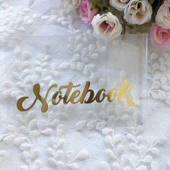"Надпись ""Notebook"", цвет Gold metallic"