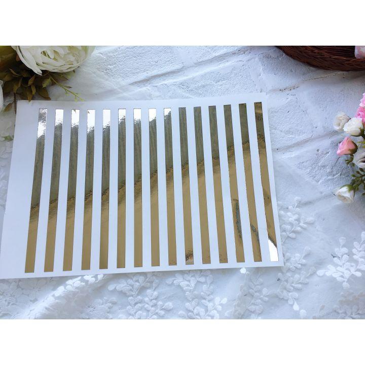 Виниловый  фон/ полоса 20*30 см, золотой глянец